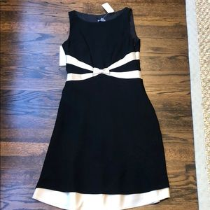 Ann Taylor black and gold dress